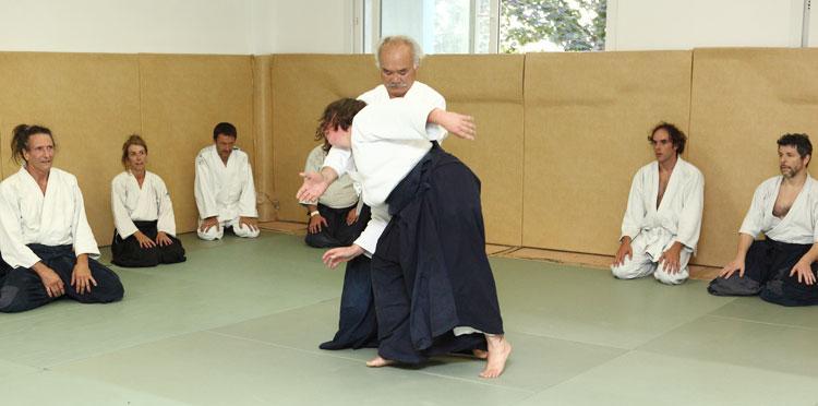 K. Chiba sensei, uké Anne Ducouret godan